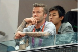 Beckham in China 2